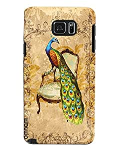 Omnam The National Animal Peackcock Printed Designer Back Cover Case For Samsung Galaxy Note 5