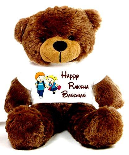 Special Raksha Bandhan 2 feet Brown Big T-shirt Teddy Bear
