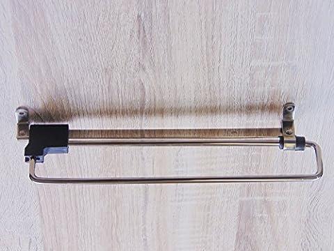 GedoTec® Kleiderbügelhalter Garderobenhalter Kleiderhaken PRIMUS ausziehbar | Stahl vernickelt |