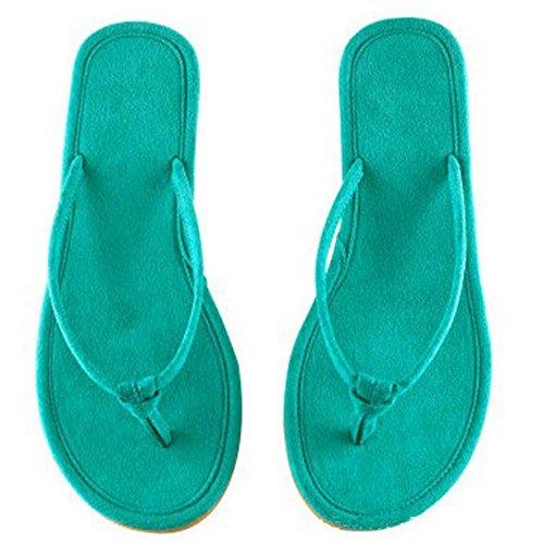 mhgao Mesdames antidérapant Home Leisure Pantoufles Maison Pantoufles bleu / vert