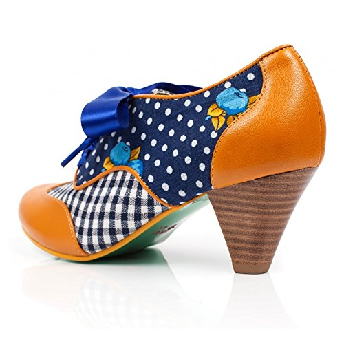 Poetic Licence , Damen Pumps mehrfarbig Mustard and Navy Mustard and Navy