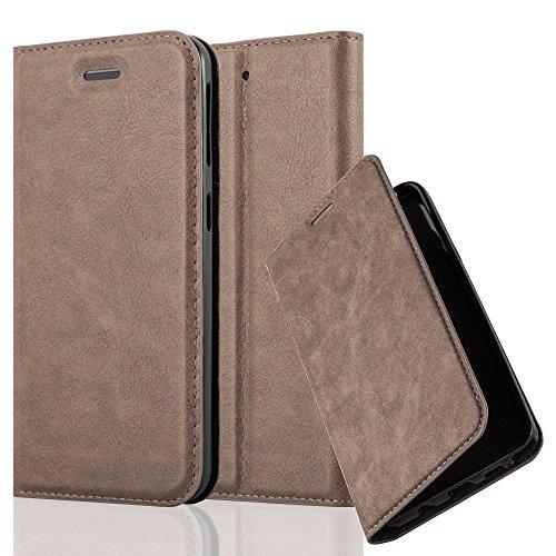 Cadorabo Hülle für HTC Desire 530/630 - Hülle in Kaffee BRAUN – Handyhülle mit Magnetverschluss, Standfunktion und Kartenfach - Case Cover Schutzhülle Etui Tasche Book Klapp Style