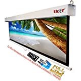 ELCOR EL92INWTS Wall Spring Action Projector Screens 4x7ft.- 92-inch Diagonal in 16:09 Aspect Ratio, HD-3D-4K Technology