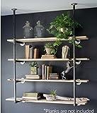 Industrie Retro Wandhalterung Eisen Rohr Regal aufgehängt Halterung DIY Regalen Bücherregal Flasche Display Regalen... 55.5''x12'' Retro color