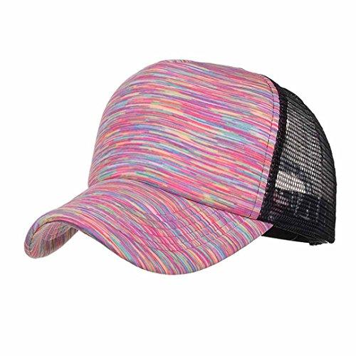 Mounter Baseballmütze, Baumwolle, verstellbar, Unisex, gut-Panel Cap–Sandwich Peak, Sonne, Strand, für Damen, Herren, Mädchen, boys-various-54-62cm, damen, 2-1, Stripes-Pink (Stripe Sonnenhut)
