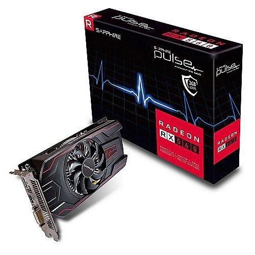 Sapphire Pulse Radeon RX 560 2GB GDDR5 HDMI/DVI-D/DP OC UEFI 1226MHz/1500MHz 128-bit - Grafikkarte - PCI-Express, 11267-22-20G
