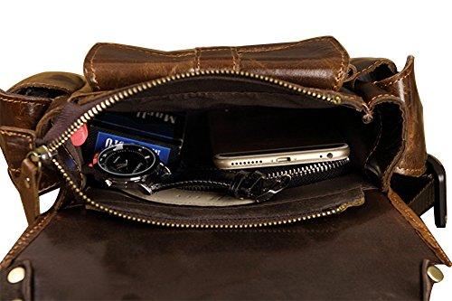 Genda 2Archer Bolso del Fist de los Deportes del Bolso de la Cintura del Cuero Genuino de los Hombres (17cm * 6cm * 28cm)