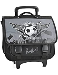 Cartable A Roulettes 2 Compartiments Football