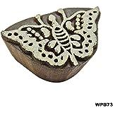 Indio De Madera, Textil Bloque De Impresión Arte De La Mariposa Elegantes Diseños De Tatuajes Decorativos Mano Patrón Exclusivo Tallado Proyectos Del Libro De Recuerdos De Bricolaje Para La Arcilla