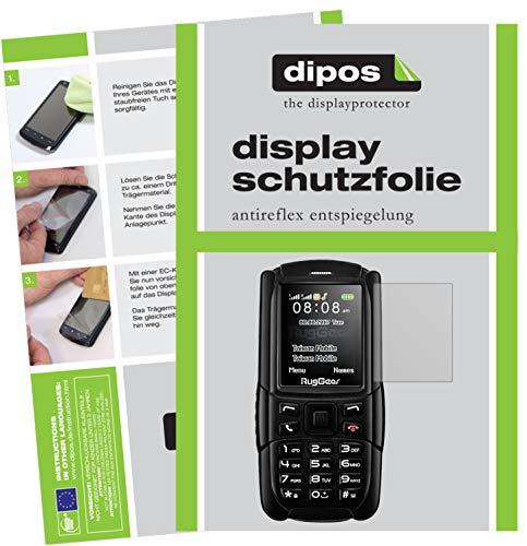 dipos I 6X Schutzfolie matt passend für RugGear RG129 Folie Bildschirmschutzfolie