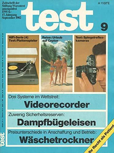Test Nr. 09/1982 Drei Systeme im Wettstreit: Videorecorder