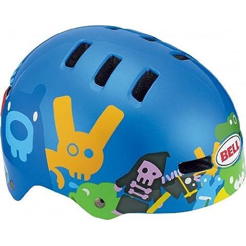 Bell Kinder Fahrradhelm FRACTION 10, Blue Critter, XS (48-53cm), 210028021