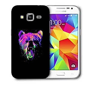 Snoogg Angry Bear Designer Protective Back Case Cover For Samsung Galaxy Core Prime