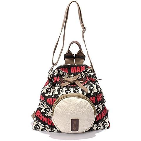 Mujer Clasico Laptop Backpack Rucksack Mochila Escolar para Uso Diario /Escolar/Oficina/viajes/Calle/ Mochila de Senderismo 3way