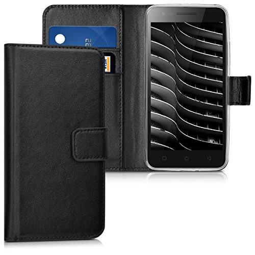 kwmobile Lenovo C2 Hülle - Kunstleder Wallet Case für Lenovo C2 mit Kartenfächern und Stand