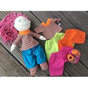 Puppenkleidung handmade KLEIDUNG Shirt + Hose + Schuhe für Puppen HABA friends Gr. 30 cm Lilli Mali Milli Conni Lotta NEU