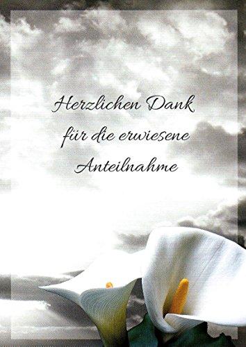 20 Danksagungskarten Trauerkarten mit Umschlägen Motiv Himmel Trauerkarte Trauer Danke (K57)