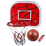 Goldbeing Mini Basketball Set fürs Zimmer mit Ball und Pumpe für Kinder, Basketballkorb Kinder 38CM Wandmontage Boards Backboard + Korb Standard Basketball Schießen Hoop