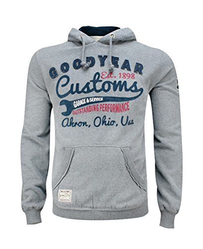 Goodyear Fashion Herren Oregon Kapuzenpullover, Marl Grey, S -