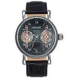 Ingersoll Herren Analog Automatik Uhr mit Leder Armband IN3109GY