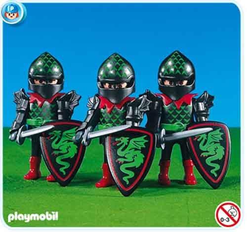 """PLAYMOBIL® 7669 - Drei Ritter der \""""Grünen Drachen\"""" (Folienverpackung)"""