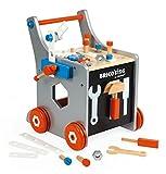 Janod J06478 Brico'Kids Magnetic Diy TRollEY Werkbankwagen Groß, mehrfarbig