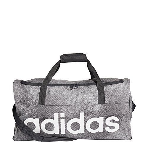 adidas Unisex-Erwachsene LIN PER TB M Sporttasche, Grau (Pertiz/Negro/Blanco), 24x15x45 Centimeters (W x H x L)