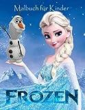 Frozen Malbuch Fur Kinder: Dieses schöne A4 60 Seite Malbuch für kleine Kinder um mit deinen Lieblingscharakteren zu färben. Also was wartest du denn Kinder greifen sie  Bleistifte und Färbung.
