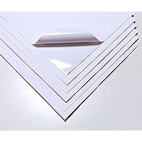 10láminas impermeables A4, color blanco, de alta calidad, de vinilo, mate, adhesivas, aptas para impresión a láser