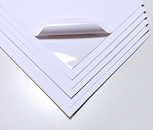 10 Blatt Qualität weiß wasserfest A4 Vinyl matt selbstklebend laserdruckbar