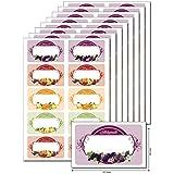 80étiquettes 'fruits étiquette selbstgemacht' à tamponner, étiquetez,, DIN A5, autocollant, léger résidus, pour Bocaux, cadeaux, sachets