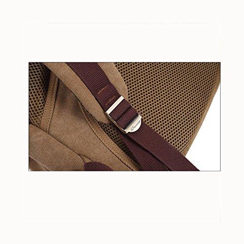 Backpack Zaino da portare / scuola / 20L di tela di canapa trasportabile dello Rucksack, Daypack , Black Khaki