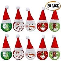 The Twiddlers Pins con Diseño de Navidad - Paquete de 20 Broches - 4 Diseños Diferentes - Accesorio Ideal para Navidad y Niños