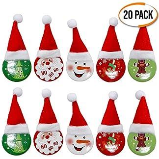 THE TWIDDLERS Navidad Broche Pin de Aleación – Paquete de 20 Broches – 4 Diseños Diferentes – Lindo Ropa Accesorio, Hogar Decoración, Brooch Regalo Niños Niñas