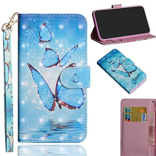 Handyhülle für Huawei Y6 2019/Y6 Pro 2019/Honor Play 8A Hülle, PU Leder Flip Brieftasche Schutzhülle Tasche Case, mit Kartenfach & Standfunktion für Huawei Y6 2019/Y6 Pro 2019/Honor Play 8A Cover