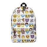 Da uomo, donna, ragazzo e ragazza zaino Zaino per la scuola, viaggio a mano bagagli borsa da palestra Multicolore Emoji Purple H42 x L31 x W21 cm
