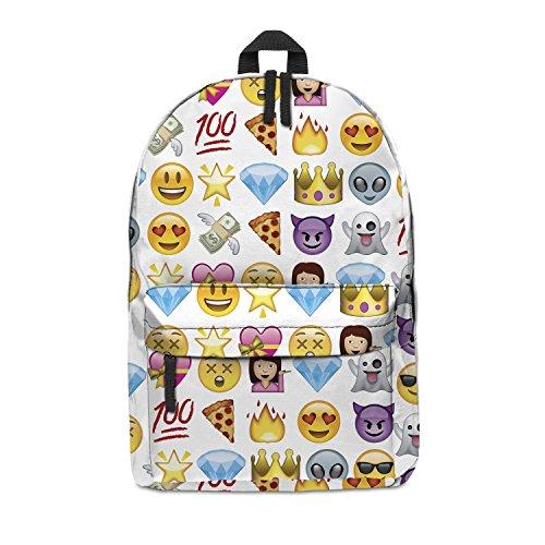 Imagen de fringoo   escolar unisex estampada, equipaje de cabina/gimnasio multicolor emoji purple h42 x l31 x w21 cm