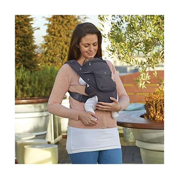 Clevamama Ergonomic Baby Carrier - Adjustable Baby Carrier from Newborn to Toddler (3.5 - 15 kg),Grey Clevamama Acknowledged by international hip dysplasia institute as hip healthy for your baby when used as directed Versatile for all occasions: front facing in, backpack style, side sling, frontal out and hip seat Provides complete support to baby and extra lumbar support to parent 3