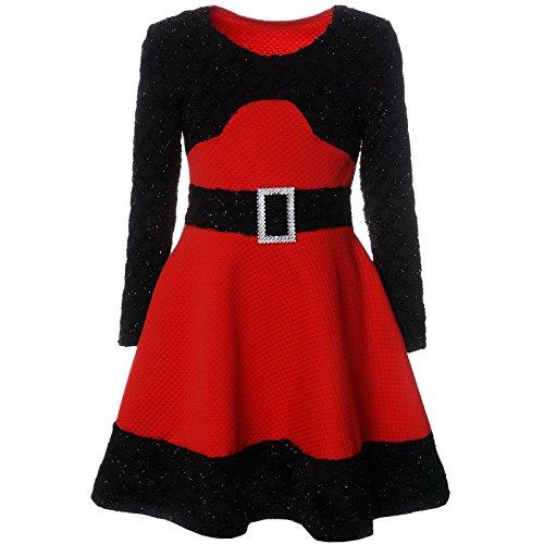 er Spitze Winter Kleid Langarm 21640, Farbe:Rot, Größe:164 (Größe 14-mädchen-kleider)