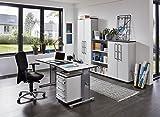 Germania 0650-69 höhenverstellbarer Schreibtisch GW-Profi in der Farbe Lichtgrau, 160 x 70-80 x 80 cm (BxHxT) - 3
