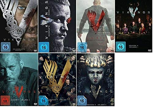 Vikings Staffel 1-5.2 (1+2+3+4.1+4.2+5.1+5.2, 1 bis 5.2) [DVD Set]