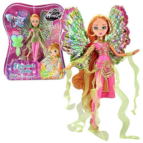 World of Winx - Dreamix Fairy - Hada Flora Muñeca 28cm con...