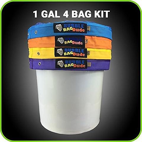 BUBBLEBAGDUDE 1 Gallon 4 Bag Set - Herbal Ice Essence