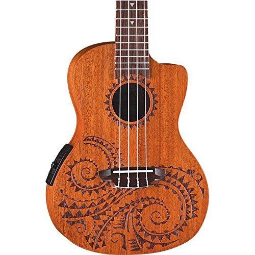 Luna Guitars UKETECMAH - Ukelele de caoba, color marrón