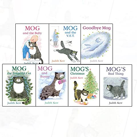 Judith Kerr Mog the Cat 7 Books Bundle Collection (Mog and the Baby, Mog and Bunny (Mog the Cat Books), Mog the Forgetful Cat, Mog's Christmas, Mog and the V.E.T. (Mog the Cat Books), Goodbye Mog, Mog's Bad Thing)