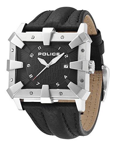 Police, Detroit - Orologio Analogico da Polso, Uomo, Cinturino in Pelle,...