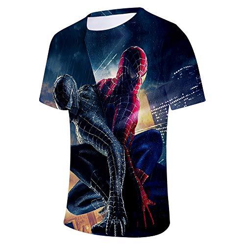 Expedition S/s Shirt (WQWQ T-Shirt für Herren und Damen Shirt Spider-Man Heroes Expedition Kurzarm Rundhals Digitaldruck Fitness Schnelltrocknendes Schweißgeschenk,B,S)