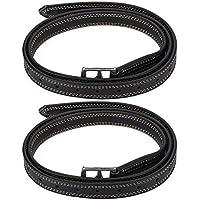 Juicemoo ���������� ������������ Cinturón de Estribo, cinturón de Estribo de Caballo de Gran Bretaña, Cuero de Microfibra Suave Gran Bretaña Saddl para Caballo(Black)