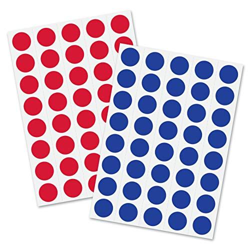 Sigel mu170 etichette autoadesive colorati rotonde, Ø 1,8 cm, 1.040 pz, rosso/blu