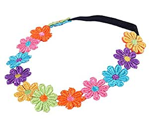 niceeshop(TM) Boutique Baby Hair Accessories Children's Colorful Flower Headband Hair Band Head Hoop-Colorful